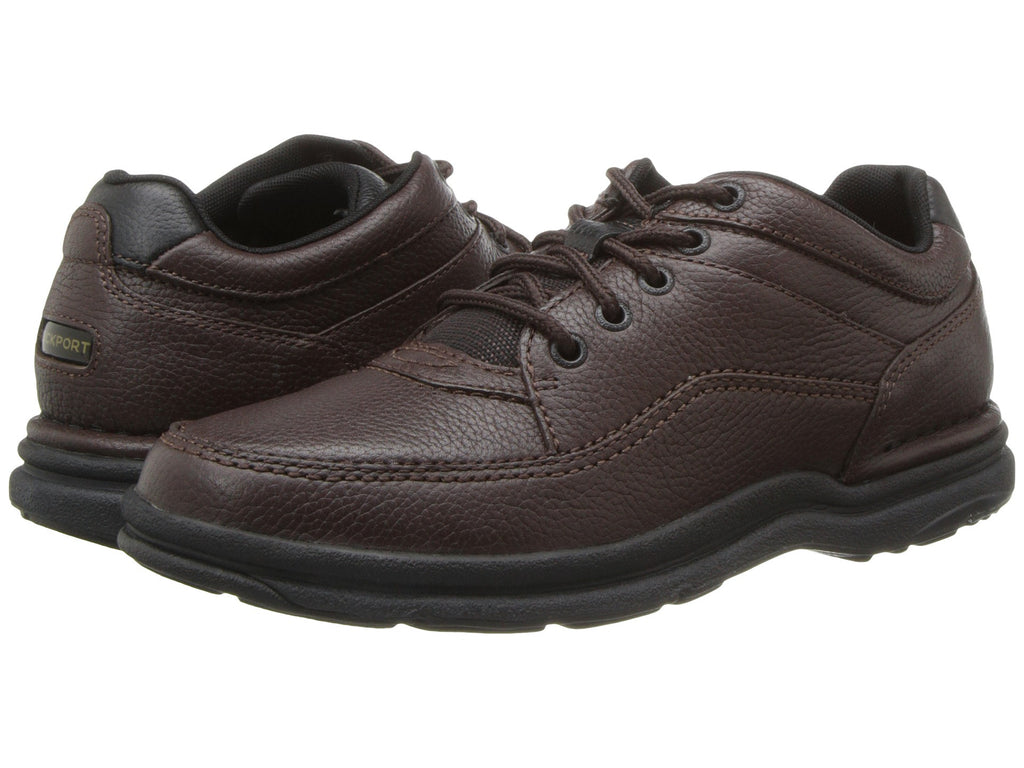 Rockport World Tour Classic Walking Shoe-Brown Tumbled - Bennett's Clothing - 1