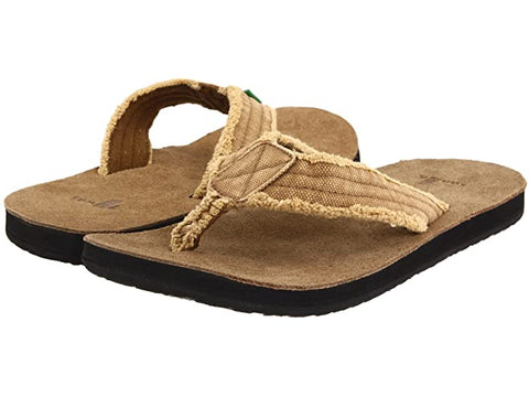 Sanuk Fraid Not flip-flop sandals are the coolest summer footwear a man can get. Shop Bennett's Clothing for the most awesome brands with same day shipping and great customer service.