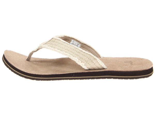 Sanuk Men's Fraid Not Sandal-Natural