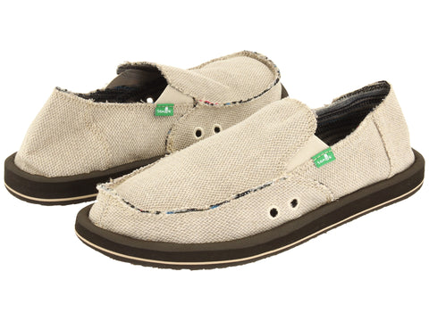 Sanuk Men's Hemp Slip-on Loafer-Natural