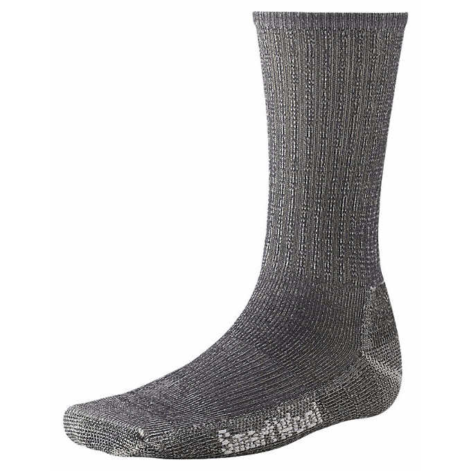 Smartwool Mens Hike Light Crew Socks-Grey-Large - Bennett's Clothing - 1