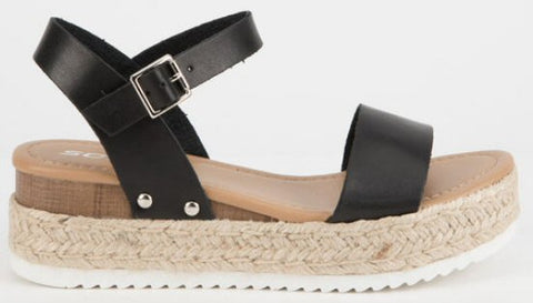 SODA Clip Espadrille Flatform Sandals are the rage right now and look great with..well everything! Shop Bennetts Clothing the latest and greatest in womenswear with same day shipping.