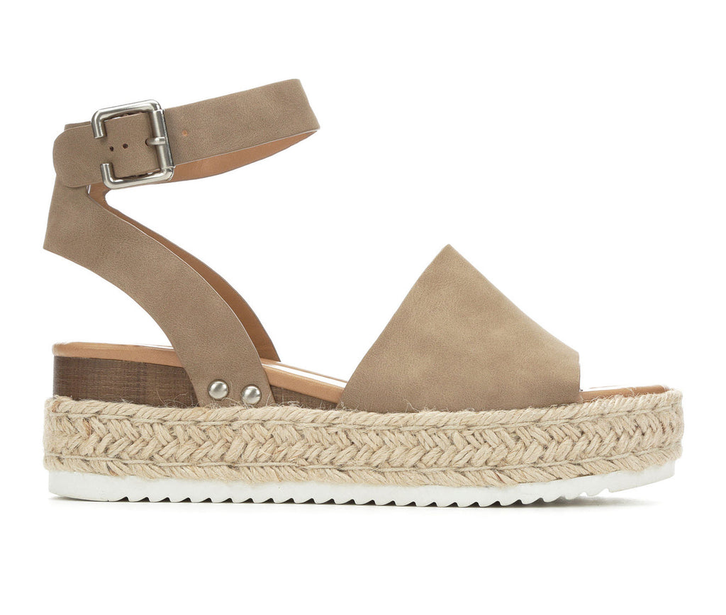 SODA Topic Espadrille Flatform Sandals are the rage right now and look great with..well everything! Shop Bennetts Clothing the latest and greatest in womenswear with same day shipping.