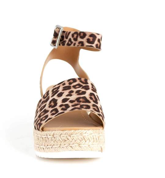 Soda Topic Flatform Sandal-Oat Cheetah