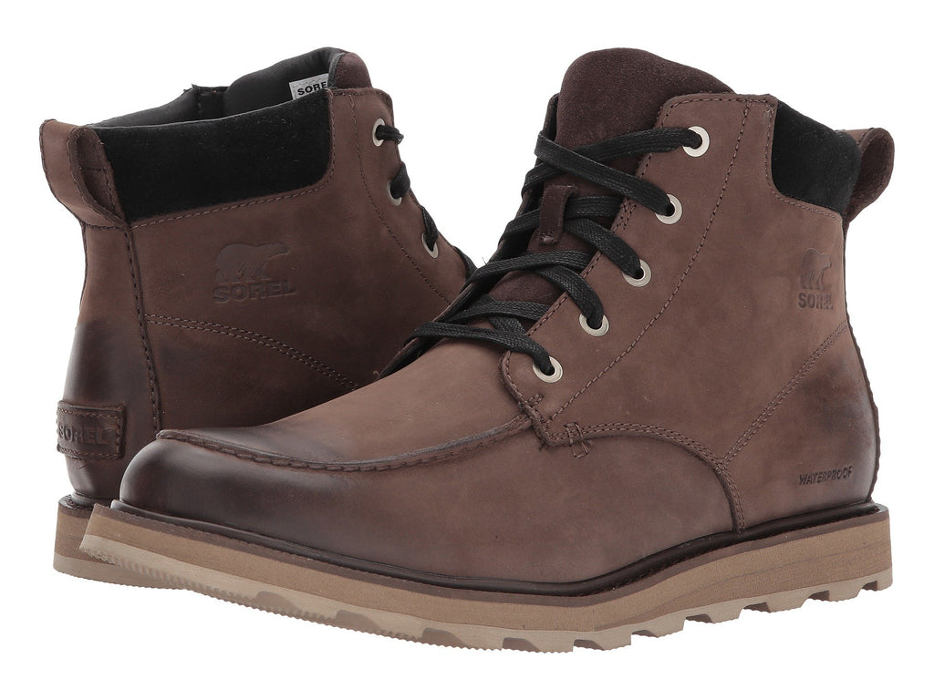 Sorel Madson moc toe boots are handsome, comfortable, and ready for whatever Mother Nature throws at you this season. Shop Bennetts Clothing and receive same day shipping with awesome customer service