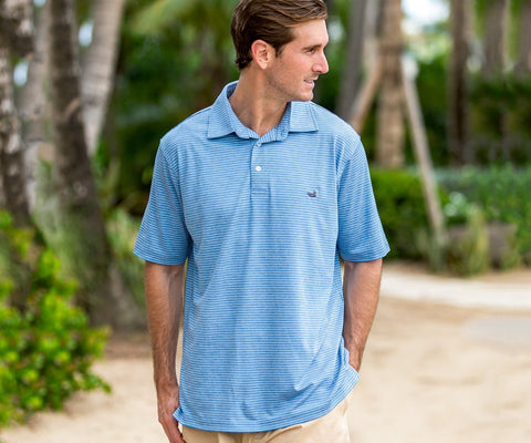 Southern Marsh Baldwin Performance Polo-Breaker Blue