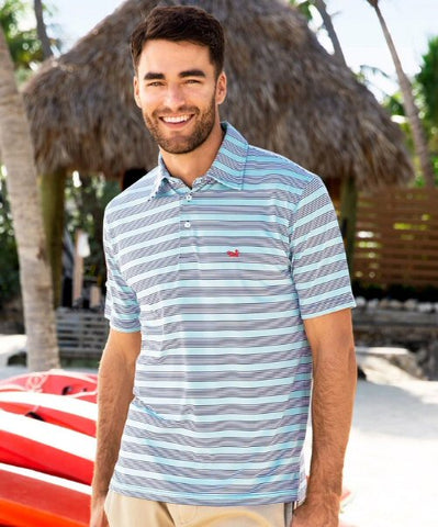 Southern Marsh Pensacola Stripe Performance Polo can be dressed up or down to match your active lifestyle. Shop Bennetts Clothing where you find the best brands and same day shipping.