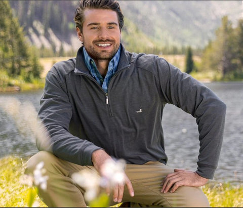 Southern Marsh Downpour Dry Performance pullover can be dressed up or down and will keep you dry while living your active lifestyle. Shop Bennetts Clothing where you find the best brands and same day shipping.