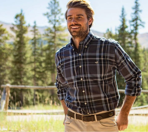 Southern Marsh Bedford Plaid shirt in cool new colors. Shop Bennetts Clothing where you find the best brands and same day shipping.