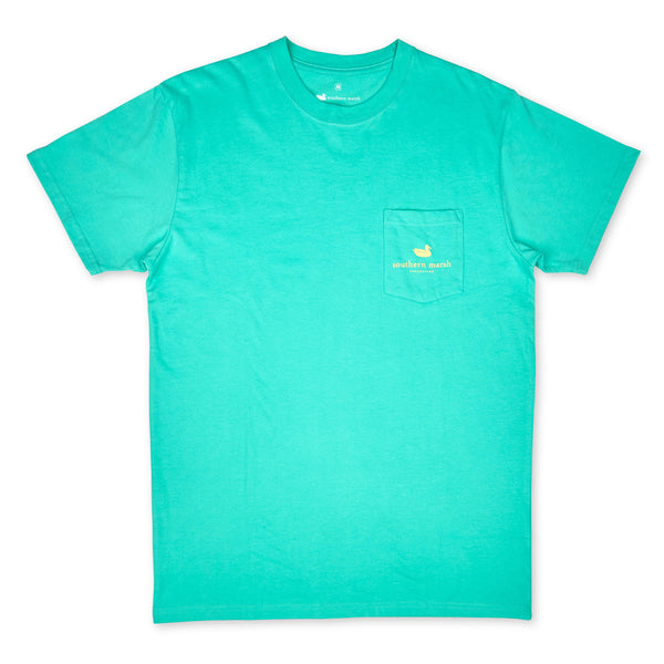 Southern Marsh Redfish Wildlife Short Sleeve T-Shirt-Bimini Green