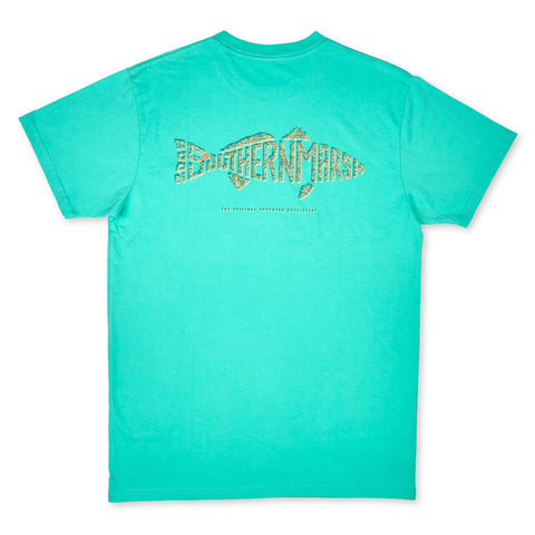 Southern Marsh Redfish Wildlife Words T-shirt will remind you of your favorite trips to the sea. Shop Bennett's Clothing for the brands you know at prices you will love.