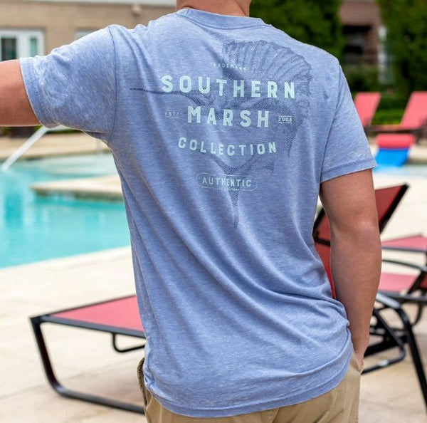 Southern Marsh Sailfish seawash tee is so soft and looks great when walking the beach or hanging pubside. Shop Bennetts Clothing where you find the best brands and same day shipping.