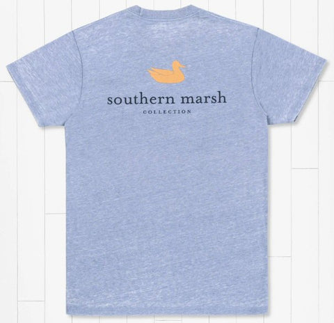 Southern Marsh Authentic seawash t-shirt with a crew neck looks and feels great walking the beach or hanging pubside. Shop Bennetts Clothing where you find the best brands and same day shipping.