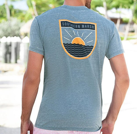 Southern Marsh Sun Lines seawash tee is so soft and looks great when walking the beach or hanging pubside. Shop Bennetts Clothing where you find the best brands and same day shipping.