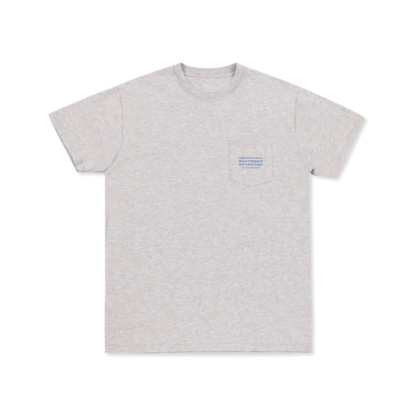 Southern Marsh Sunset Palm Short Sleeve T-Shirt-Light Grey