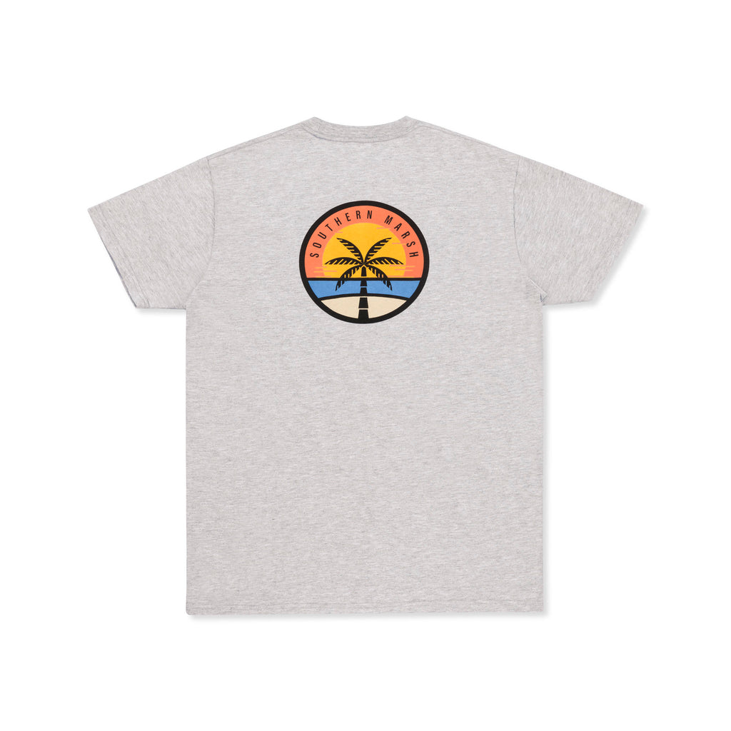 Southern Marsh Sunset Palm Sleeve tee is laid back and easy going. Shop Bennetts Clothing where you find the best brands and same day shipping.