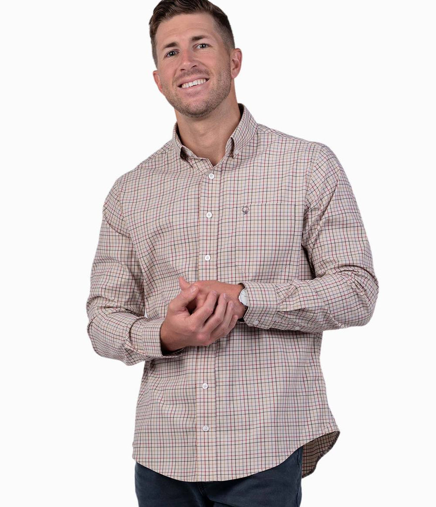Southern Shirt Briarfield Check sport shirt will keep you ready for whatever the week or weekend holds. Shop Bennett's for the latest in mens clothing from the brands you want shipped same day to your front door.