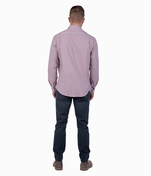 Southern Shirt Campus Check Button Down-University Red