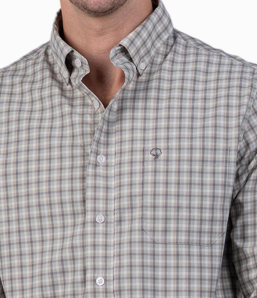 Southern Shirt Chandler Check Button Down-Moss Green