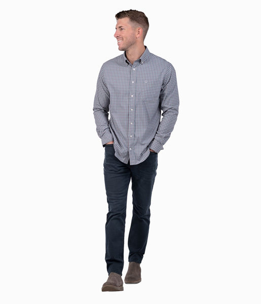 Southern Shirt Lawrence Check Button Down-Country Blue