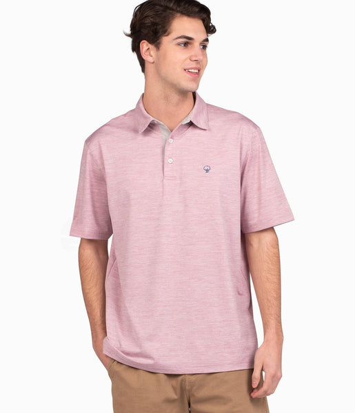Southern Shirt Company Grayton Heather Polo will keep you on top of your game. Stylish, functional men's polo's and mens clothing can be found at Bennetts where the customer is #1.