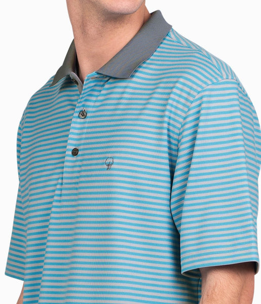 Southern Shirt Company King Street Pique Polo-Dusk Blue
