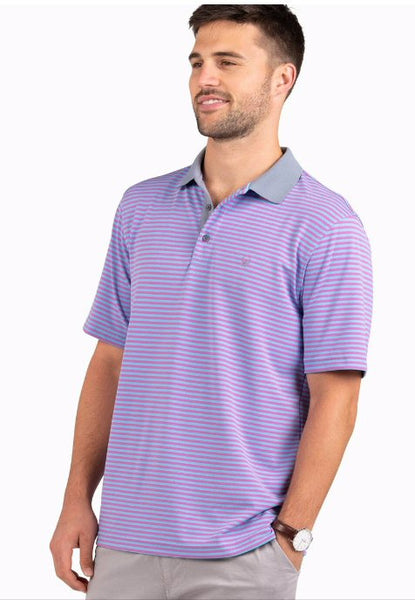 Southern Shirt Company King Street Pique Polo-Purple Rain