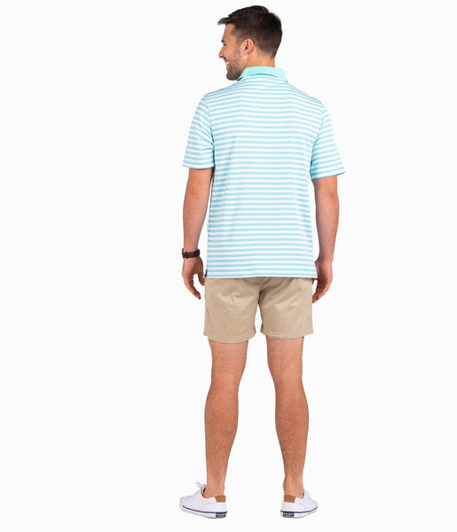 Southern Shirt Company New Folly Pique Performance Polo-Chalky Mint