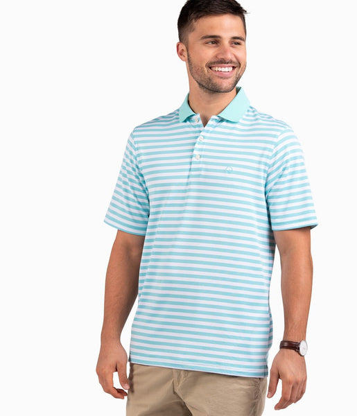 Southern Shirt Company New Folly Pique Polo looks cool on the links or cruising the streets. Stylish, functional men's polo's and mens clothing can be found at Bennetts where the customer is #1.