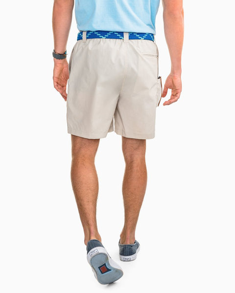 "Southern Tide 7"" Shoreline Quick Dry Short-Marble Grey"