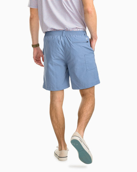"Southern Tide 7"" Shoreline Quick Dry Short-Squall Grey"