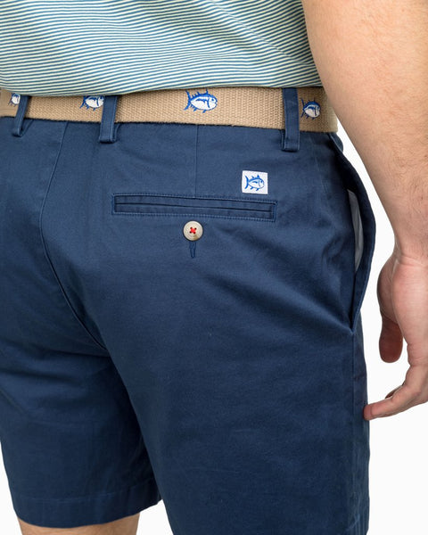 "Southern Tide 7"" Channel Marker Short-Dark Denim"
