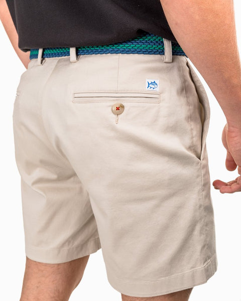 "Southern Tide 7"" Channel Marker Short-Stone Khaki"