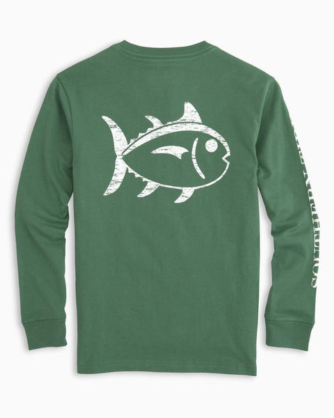 Preppy long sleeve t-shirts -Shop Bennetts Clothing for your boys Southern Tide.