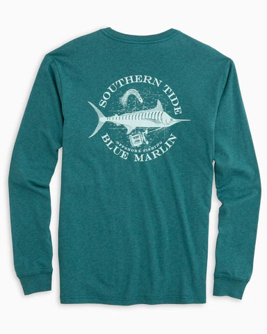 Southern Tide Blue Marlin Long Sleeve t-shirt -Shop Bennetts Clothing and receive same day shipping