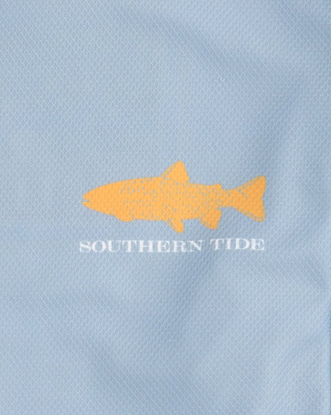 Southern Tide Brook Trout Long Sleeve Performance T-shirt-Tsunami Grey