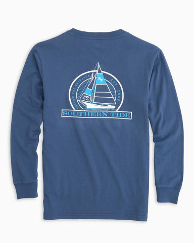 Southern Tide Boys Follow the Skipjack T-shirt-Seven Seas Blue