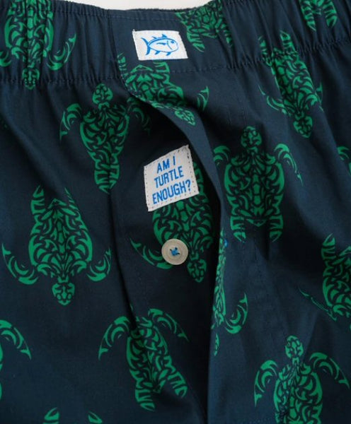Southern Tide Am I Turtle Enough Boxer Short-Kelly Green