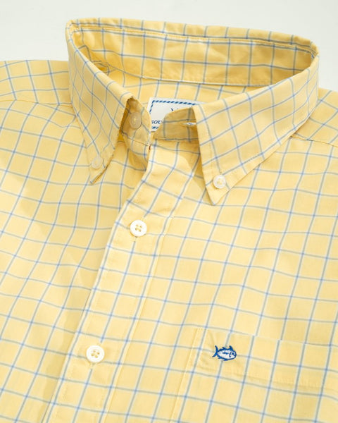 Southern Tide Rig Check Button Down Sport Shirt-Sunshine