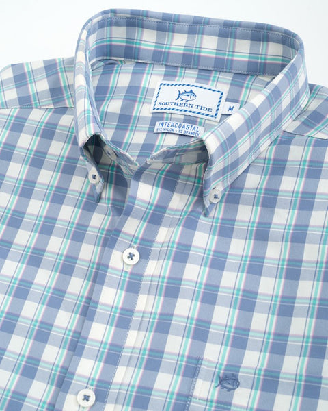 Southern Tide Salt Cedar Performance Sport Shirt-Colony Blue