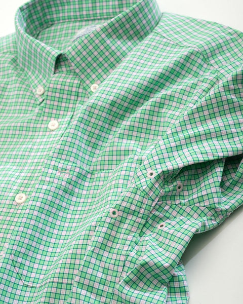 Southern Tide Barnacle Intercoastal Shirt-Green Tea Check