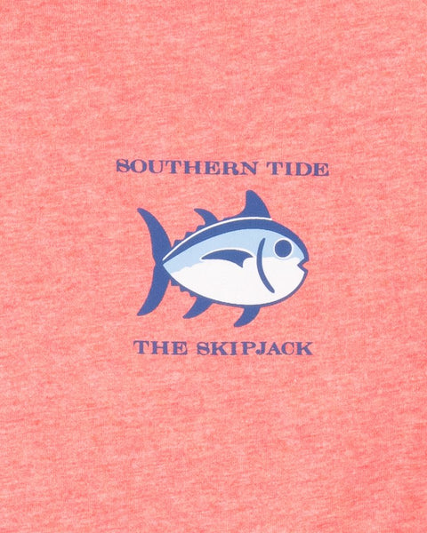 Southern Tide Original Skipjack Short Sleeve T-Shirt-Heather Coral