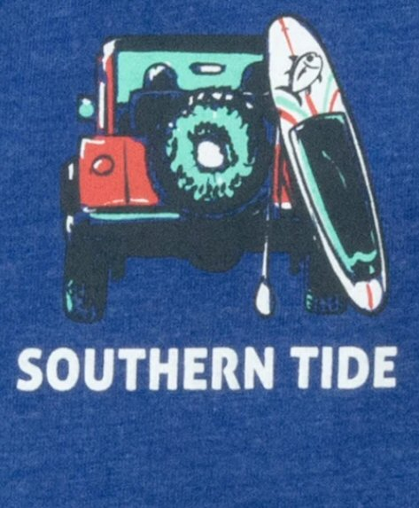 Southern Tide Get Out of Town Holiday T-Shirt-Blue Ville
