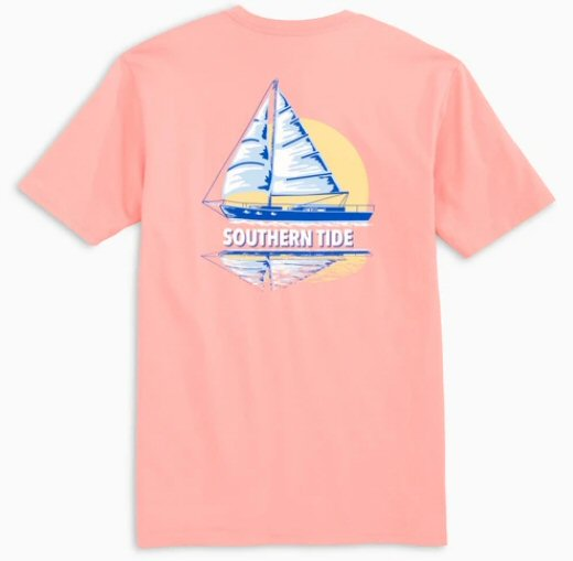 Southern Tide Sunset Sailing Tee has classic style that our customers love. Shop Bennetts Clothing for a large selection of name brand menswear