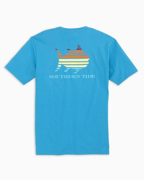 Southern Tide Skipjack Sunset T-Shirt-Malibu Blue