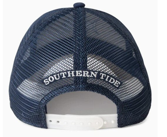 Southern Tide N2 The Blue Skipjack Trucker Hat-Marshmallow