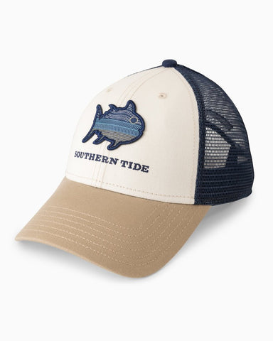 Southern Tide N2 The Blue Skipjack trucker hat shows how much you love the water. Shop Bennett's for a large selection of mens outdoor wear.