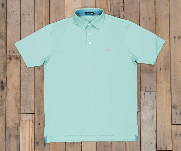 Southern Marsh Bermuda Performance Polo-Tucker-Slate-Mint