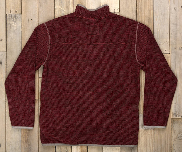 Southern Marsh Highland Alpaca Pullover-Washed Red