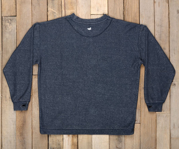 Southern Marsh Sunday Morning Sweater-Washed Navy